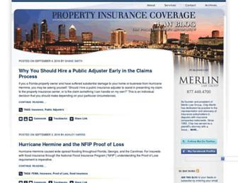 propertyinsurancecoveragelaw.com screenshot