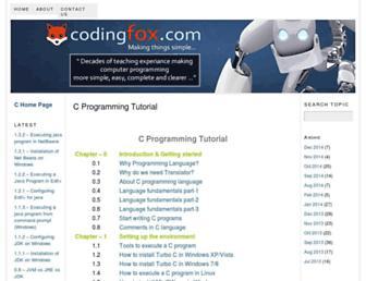 codingfox.com screenshot