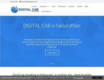 Main page screenshot of digitalcab.dk