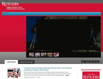 business.rutgers.edu screenshot
