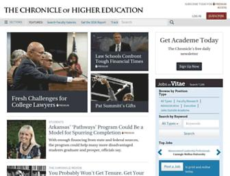 chronicle.com screenshot