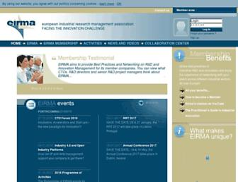 Main page screenshot of eirma.org