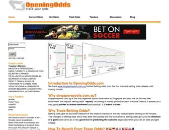 openingodds.com screenshot