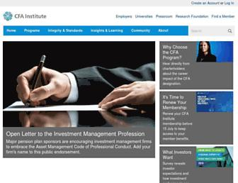 Thumbshot of Cfainstitute.org