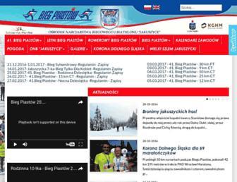 Main page screenshot of bieg-piastow.pl