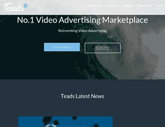 Main page screenshot of teads.tv