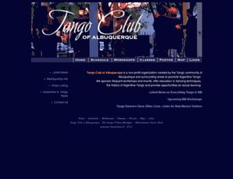 Main page screenshot of abqtango.org