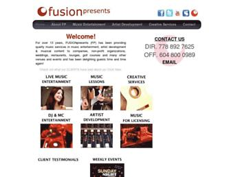 fusionpresents.com screenshot