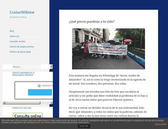 cuidarmibebe.com screenshot