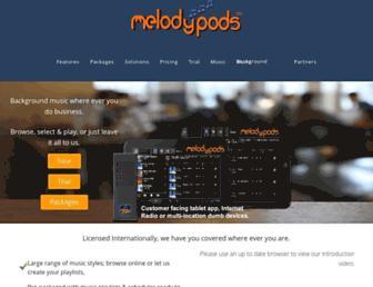 melodypods.com screenshot