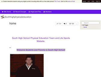southhighphysicaleducation.wikispaces.com screenshot