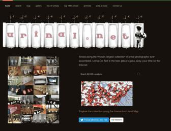 Main page screenshot of urinal.net