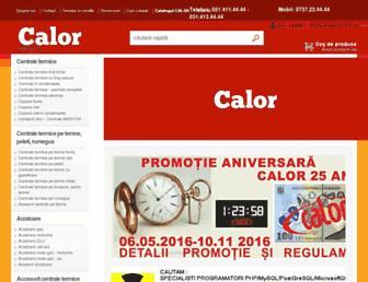 Main page screenshot of calor.ro