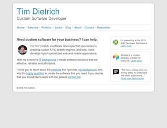 timdietrich.me screenshot