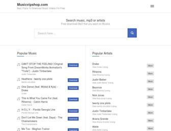 musicvipshop.com screenshot