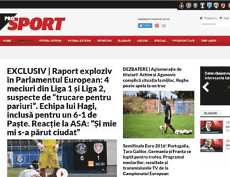 prosport.ro screenshot