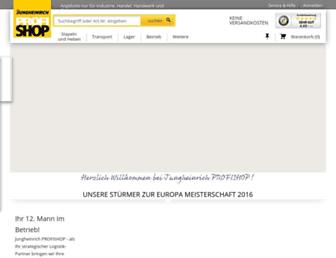 Main page screenshot of jh-profishop.de