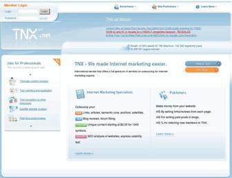 Main page screenshot of tnx.net