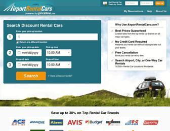 airportrentalcars.com screenshot