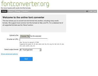 fontconverter.org screenshot