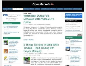 openmarkets.in screenshot