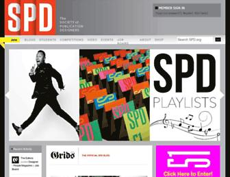 Main page screenshot of spd.org