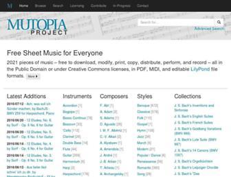 mutopiaproject.org screenshot