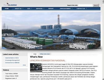 pln-enjiniring.com screenshot