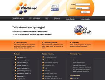 Main page screenshot of phorum.pl