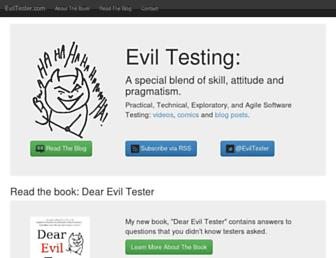 eviltester.com screenshot
