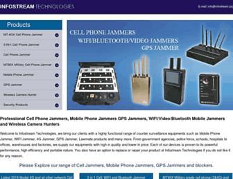 Main page screenshot of infostream.biz