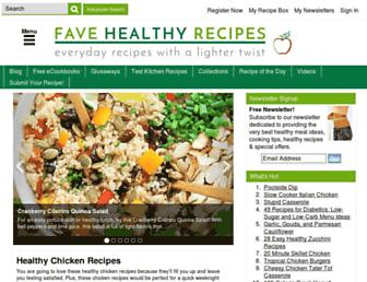 Thumbshot of Favehealthyrecipes.com
