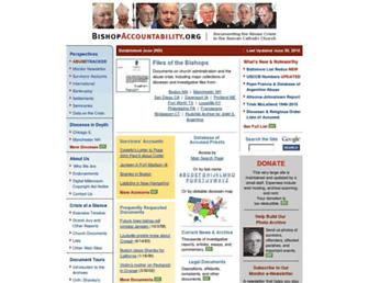 Main page screenshot of bishop-accountability.org