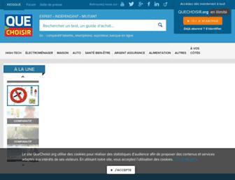 quechoisir.org screenshot