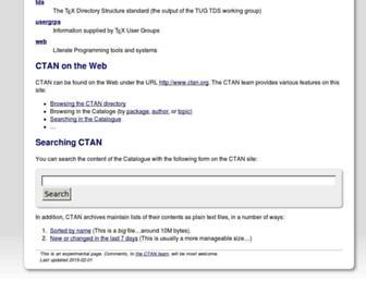 ctan.math.washington.edu screenshot