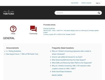 support.teradek.com screenshot