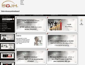 Main page screenshot of sojh.ch
