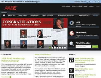 Main page screenshot of aabe.org