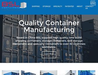 bslcontainers.com screenshot