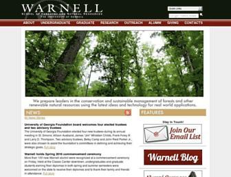 warnell.uga.edu screenshot