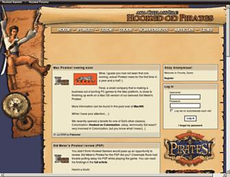hookedonpirates.com screenshot