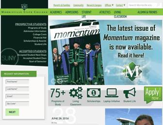 morrisville.edu screenshot