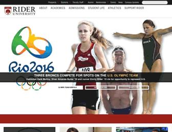 Main page screenshot of rider.edu