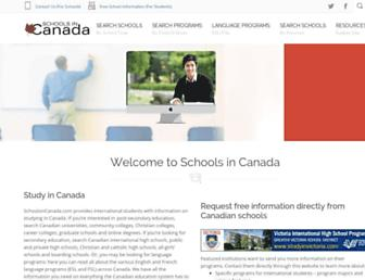 schoolsincanada.com screenshot