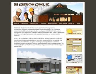 erieconstructioncouncil.com screenshot