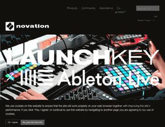 novationmusic.fr screenshot