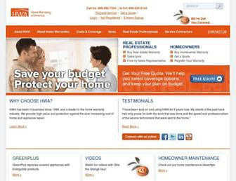 hwahomewarranty.com screenshot
