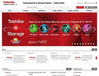 toshiba.semicon-storage.com screenshot