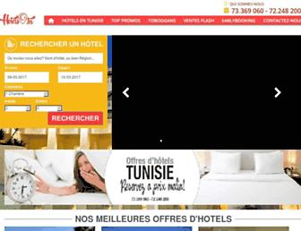 hotelstunisie.tn screenshot