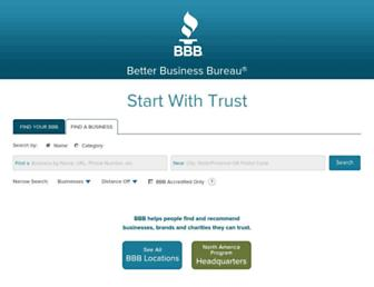 Main page screenshot of bbb.org